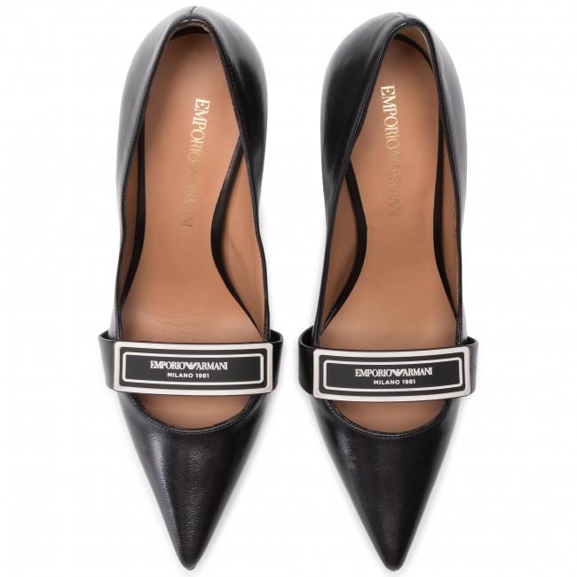Emporio Stiletto Armani Black X3e366 Donna black Basse Xf348 Scarpe Stiletti R595 IH9E2D