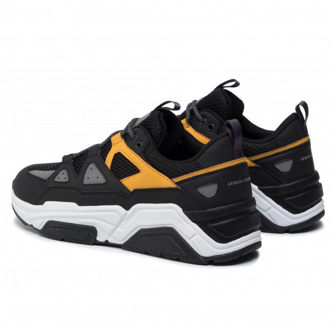Uomo Armani A154 Basse Black Exchange Scarpe Xux044 Sneakers yellow Xv183 JFT3Klc1