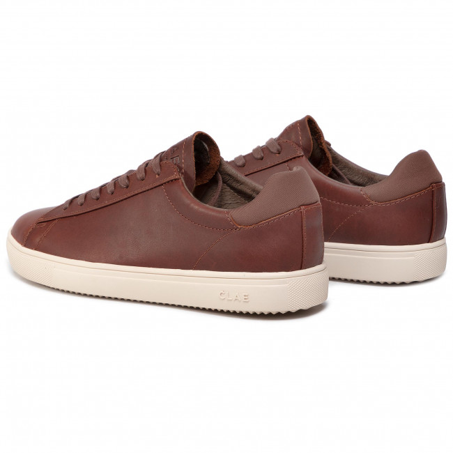 Chestnut Clae Basse Leather Uomo Scarpe Sneakers Oiled Bradley Cla01297 USMqzGVp