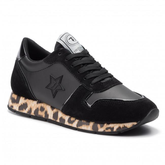 Sneakers Jeans 79a00435 Scarpe Trussardi Basse K323 Donna wnP80Ok