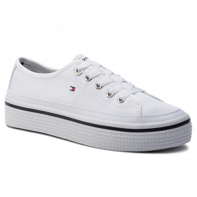 Scarpe sportive TOMMY HILFIGER Corporate Flatform Sneaker FW0FW04259 White 100