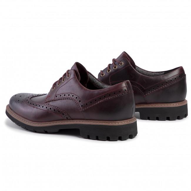 Scarpe basse CLARKS Batcombe Wing 261430487 Burgundy Leather