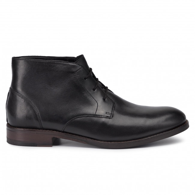 Polacchi CLARKS - Flow Top 261436567 Black Leather - Polacchi - Stivali e altri - Uomo