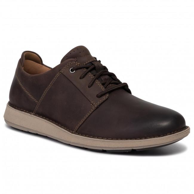 Scarpe basse CLARKS Un Larvik Lace 261445837 Brown Leather