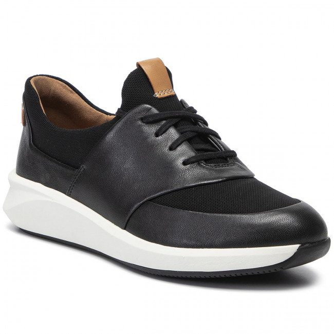 Sneakers CLARKS Un Rio Lace 261403954 Black Leather