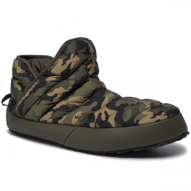 separation shoes bae6d 0d9c4 Pantofole THE NORTH FACE - Thermoball Traction Bootie T93MKHGX1 New Taupe  Green/Burnt Olive Green Woodland Camo Print