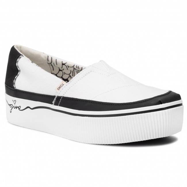 best website 245a2 521e8 Scarpe sportive TOMS - Alpargata Boardwalk 10014436 White/Black