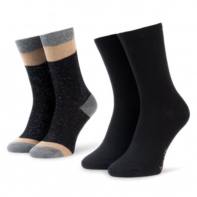 Set di 2 paia di calzini lunghi da donna BUGATTI 6969 Black 610