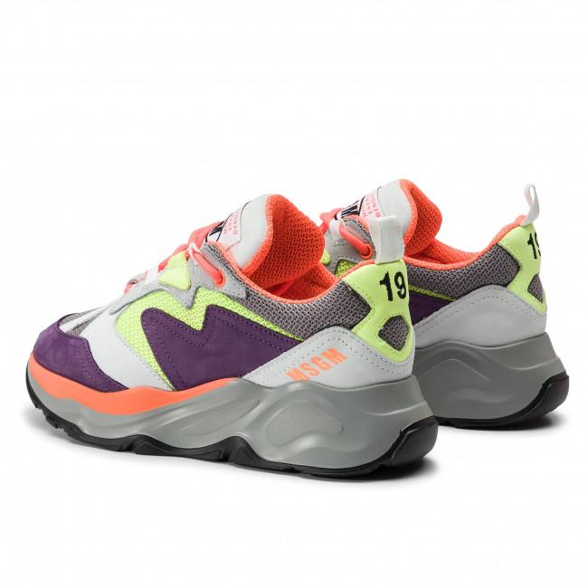 Donna 74 Msgm 700 Basse Sneakers Attack Scarpe 2642mds2086 Multicolore Bianco F1JcT5lKu3