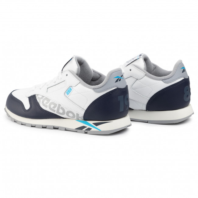 Scarpe Reebok - Classic Leather Junior DV9597 White/Navy/Cyan/Chalk - Sneakers - Scarpe basse - Donna