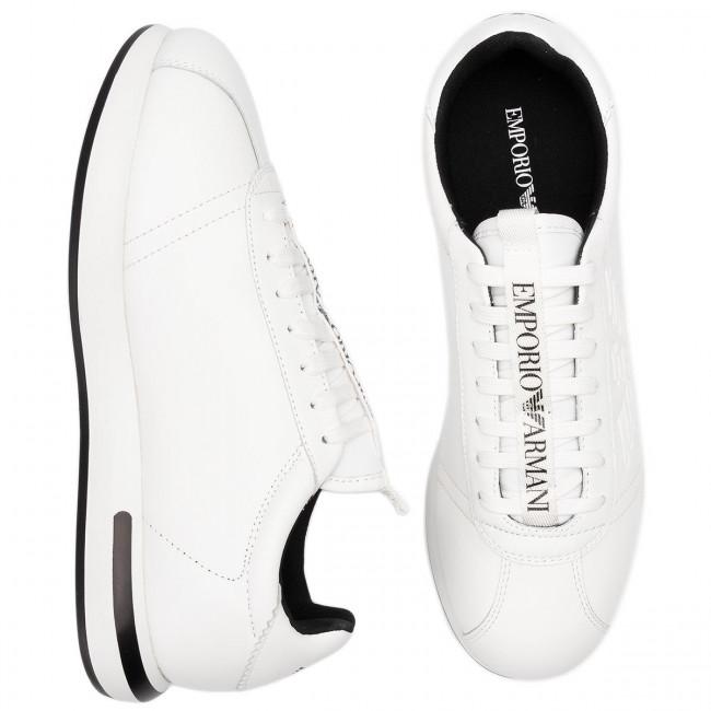 Emporio Basse D234 black White Xl709 Scarpe wht wht Armani Sneakers Uomo X4x260 CBdxoe