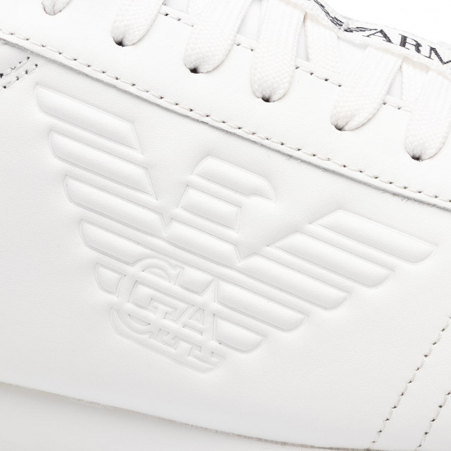 D234 Sneakers Armani wht Basse Uomo Xl709 White wht Scarpe black X4x260 Emporio 54ARjL