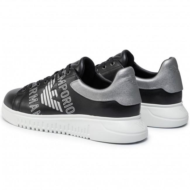 Emporio X4x264 a silver Xm041 A114 Armani Sneakers Scarpe Basse sil a Uomo Black qULMjpSzGV
