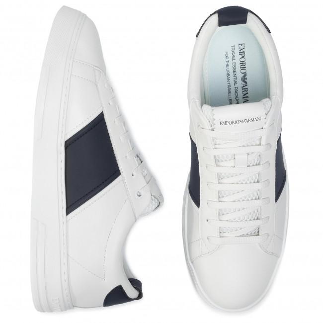 Scarpe Basse White Emporio Xm096 night Sneakers Uomo Armani X4x287 A836 white rCeodxQBWE