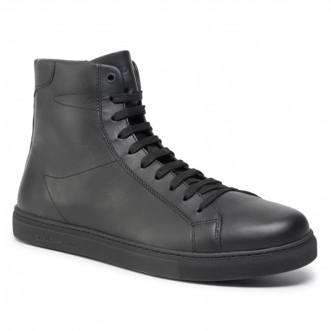 Armani Scarpe Basse Sneakers Xf375 Uomo Black 00002 Emporio X4z085 X8nOPkw0