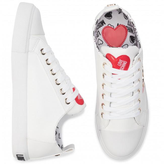 Ja15033g18ib0100 Basse Moschino Love Donna Da Ginnastica Scarpe Bianco H9DWE2I