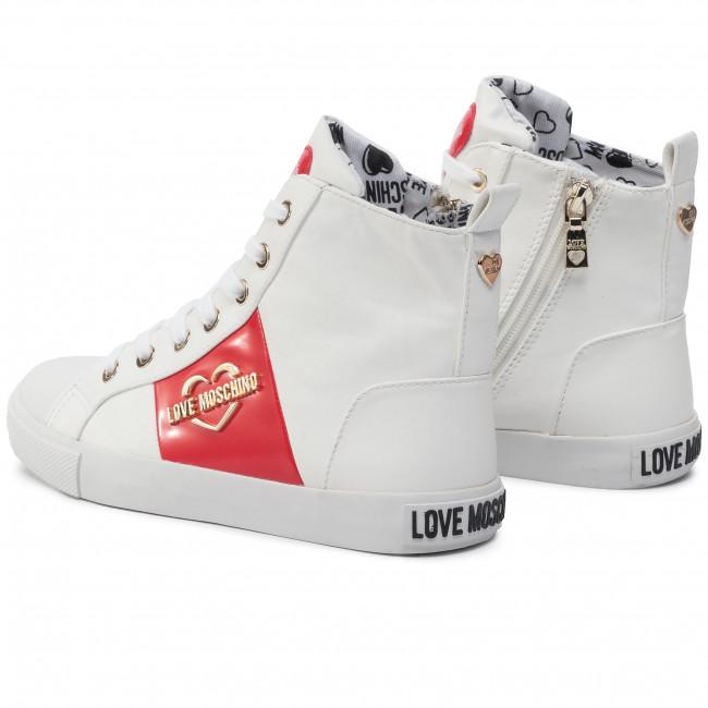 Da Love Basse Ja15043g18ib0100 Bianco Donna Ginnastica Moschino Scarpe R5Lq4A3j