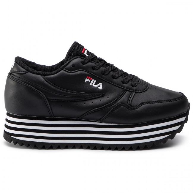 Sneakers FILA - Orbit Zeppa Stripe Wmn 101066711W Black/Stripe - Sneakers - Scarpe basse - Donna