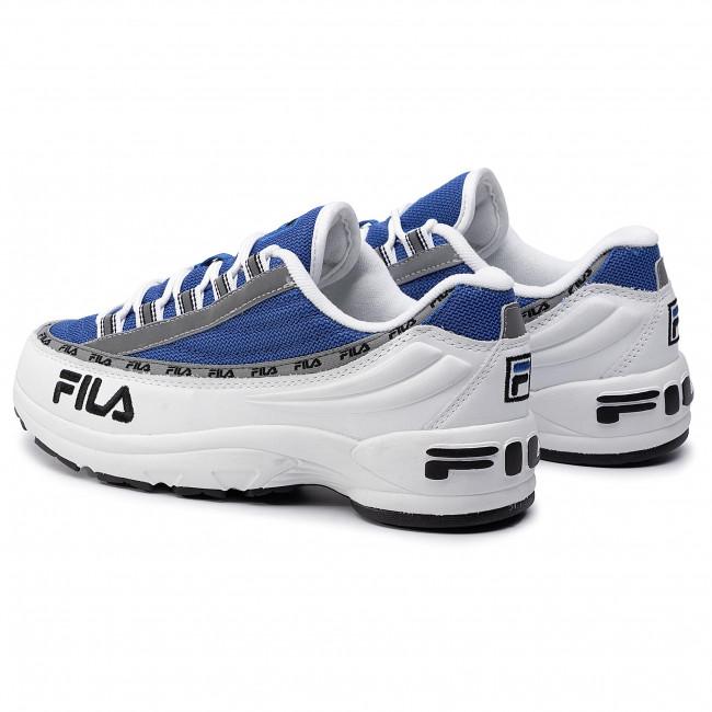 Scarpe Sneakers Fila Dstr97 White electric Uomo Blue 1010570 02b Basse lT1cFKJ
