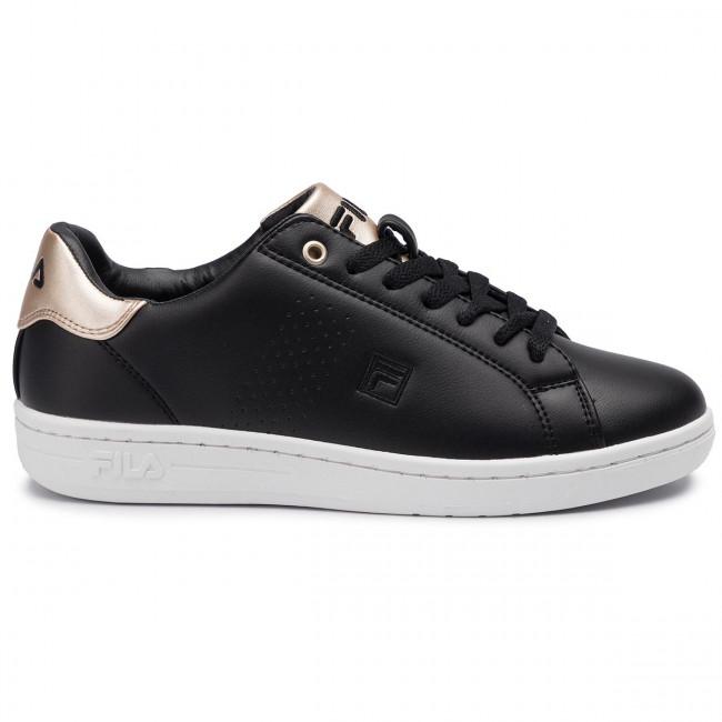 1010776 F 2 Low 11c Black Wmn gold Donna Fila Basse Sneakers Scarpe Crosscourt qUzGSMVp