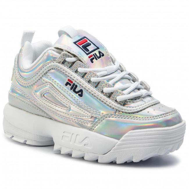 Sneakers Bambina Kids 3vw 1010779 Bambino M Basse Disruptor Fila Silver Stringate Scarpe k0nwOP8