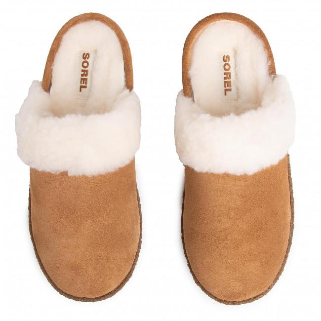 Pantofole SOREL - Nakiska Slide II NL3655 Camel Brown/Natural 224 - Pantofole - Ciabatte e sandali - Donna