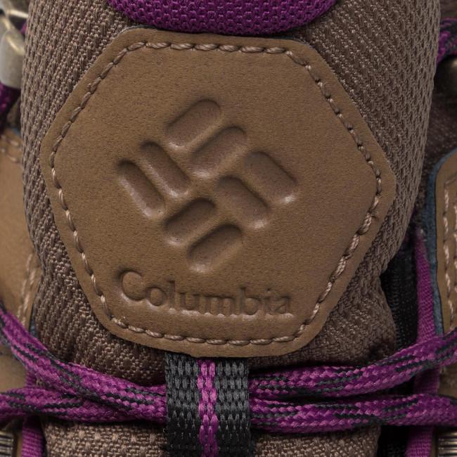Scarpe da trekking COLUMBIA - Fire Venture L Mid II Wp BL0845 Dark Truffle/Wild Iris 206 - Scarpe da trekking e scarponcini - Stivali e altri - Donna