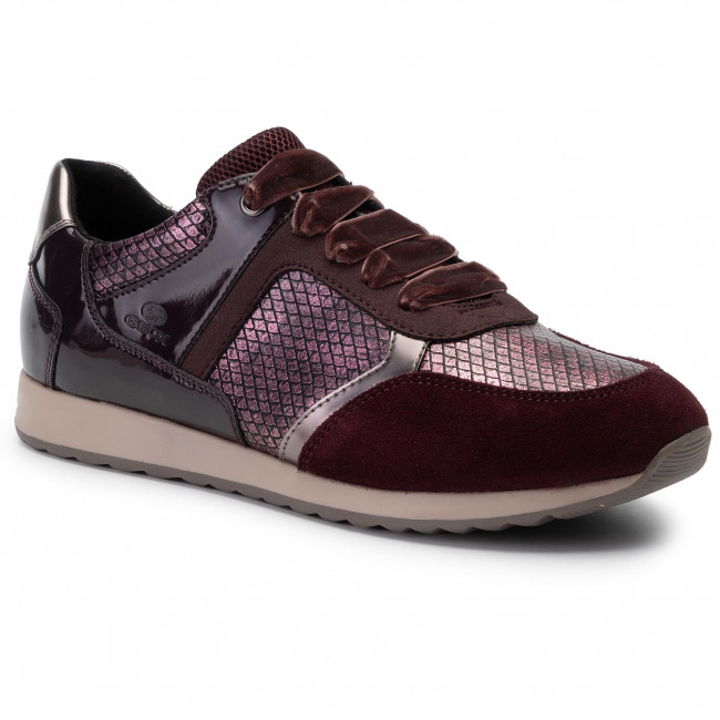 Sneakers GEOX D Deynna C D846FC 004AU C7357 Dk Burgundy