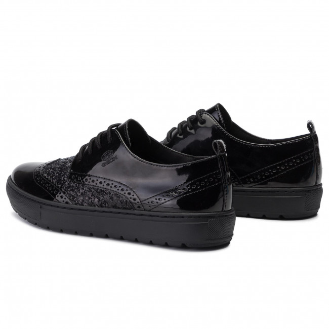 Oxfords GEOX - D Breed A A D922QA 0HHEW C9999 Black - Francesina - Scarpe basse - Donna