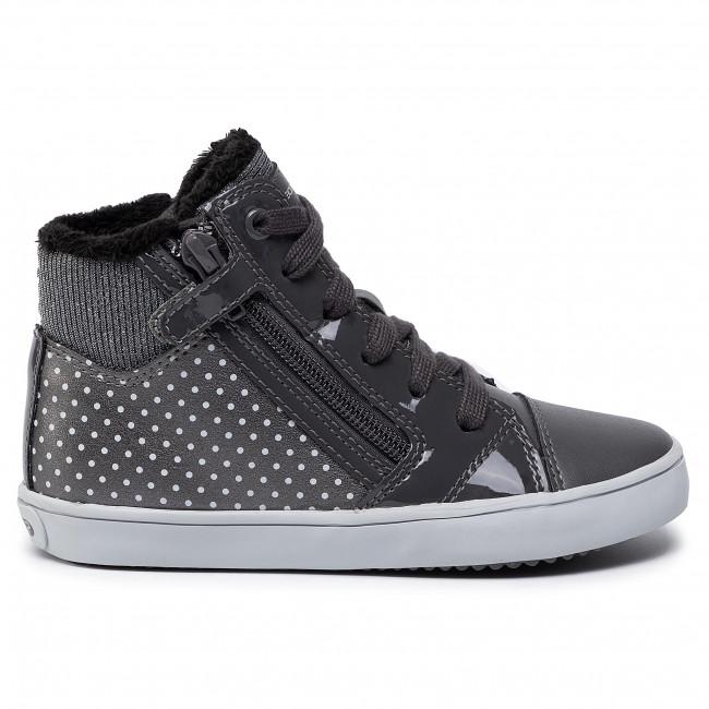 Sneakers GEOX J Gisli G. B J844NB 0AJ54 C0710 S Dk GreySilver