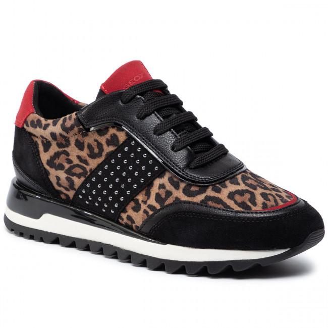 Sneakers GEOX D Tabelya A D94AQA 007BC CR69B TobaccoBlack