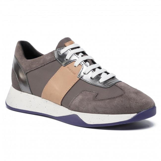 Sneakersy D Suzzie B D94FRB 01122 C5K8D CreamDk Fuchsia