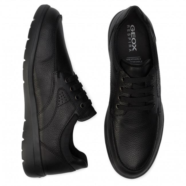 B Scarpe Geox Uomo Basse Black 00047 C9999 U Sneakers U743qb Leitan gyfb67