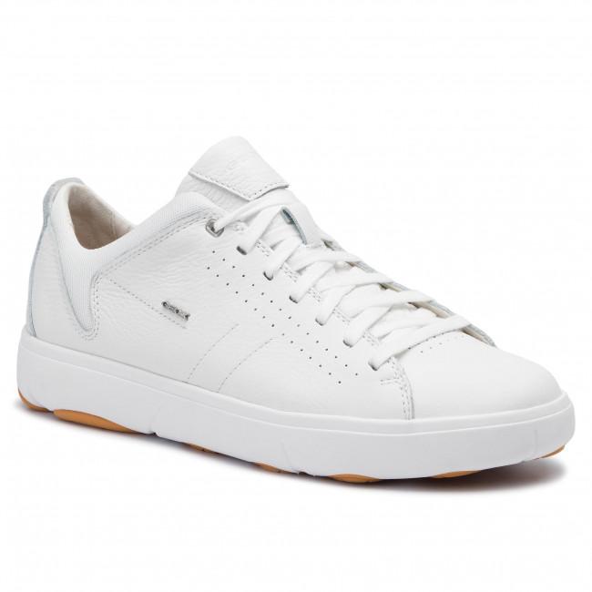 Geox u nebula y a, scarpe da ginnastica basse uomo, bianco (white c1000), 45 eu