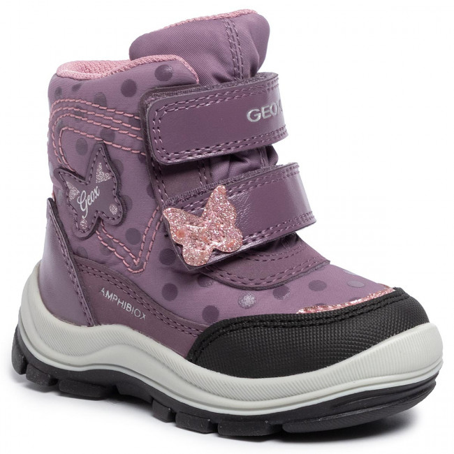 Dettagli su GEOX J844FA THYMAR scarpe bambina stivali stivaletti imbottiti pelle anfibi