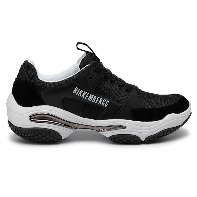 Basse Bikkembergs Lace Scarpe Low Sneakers Top Uomo B4bkm0040 Black Up PkuZiOX
