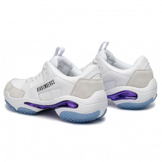 Sneakers BIKKEMBERGS - Low Top Lace Up B4BKM0040 White - Sneakers - Scarpe basse - Uomo uzAtO