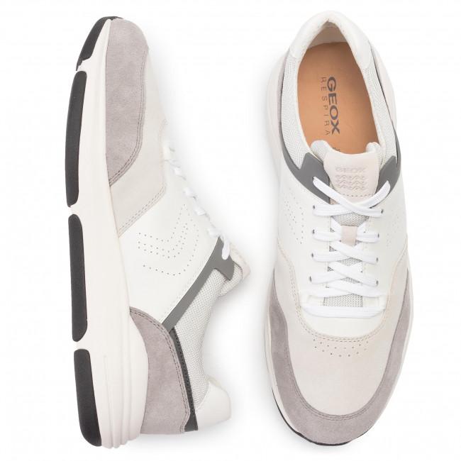 04322 White Niley Geox Sneakers Uomo stone U A Scarpe U926la C1398 Basse RL3Ajc54q
