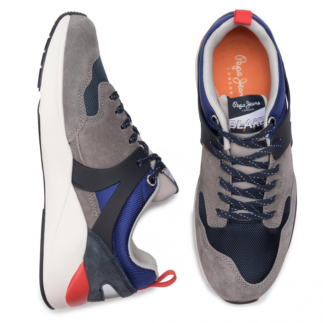 Sneakers Jeans Pepe Pms30569 945 Grey Scarpe Uomo Blake 01 Basse Y76bfyg