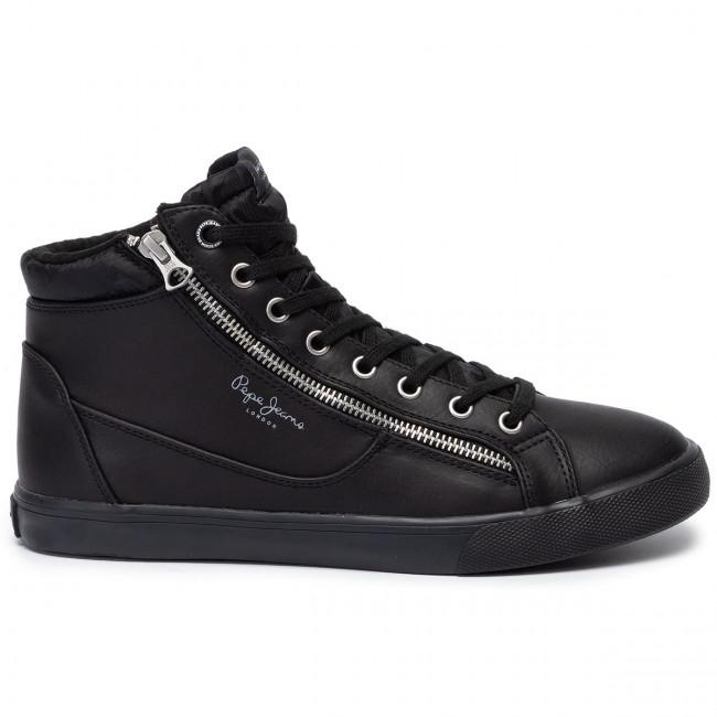 Black Pepe Sneakers Basse Marton Pms30589 Scarpe 999 Zipper Uomo Jeans RqcLS5A4j3