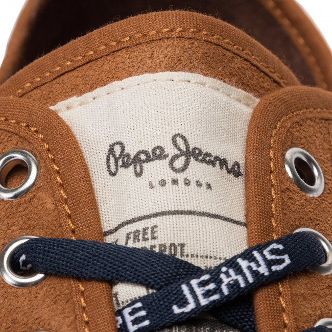 Da Cognac Jeans In Ginnastica Pms30591 Pepe Low Uomo Scarpe Basse 879 Suede g Aq4R3L5j