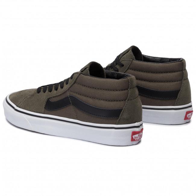 Sneakers VANS - Sk8-Mid VN0A3WM30FI1 Grape Leaf/True White - Sneakers - Scarpe basse - Donna XCjr2