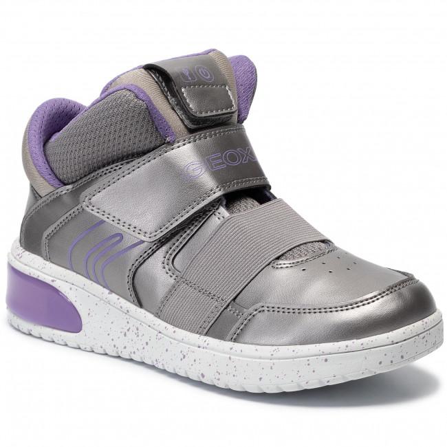 Sneakers GEOX J Xled G. A J848DA 0NF6K C1335 D Dk SilverLilac