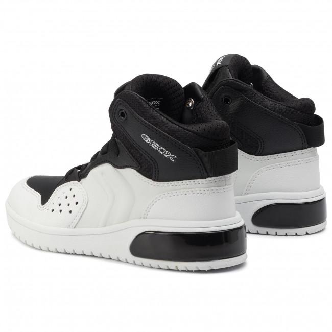Sneakers GEOX J Xled B. A J947QA 0BCBU C0404 S WhiteBlack
