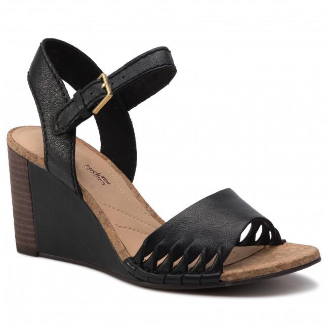 Sandali CLARKS Spiced Poppy 261318344 Black Leather