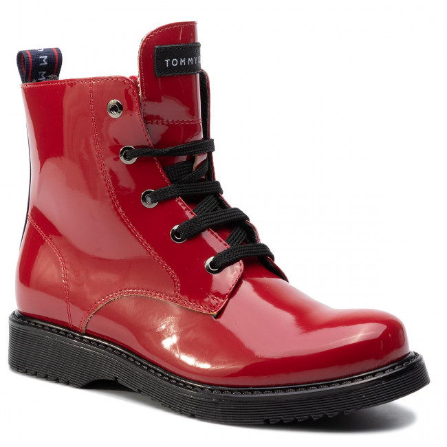 enorme sconto ecb53 7435b Stivali TOMMY HILFIGER - Lace-Up Bootie T4A5-30445-0765300 Red D