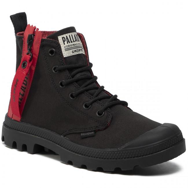 Scarponcini PALLADIUM - Pampa Unzipped 76443-008-M Black