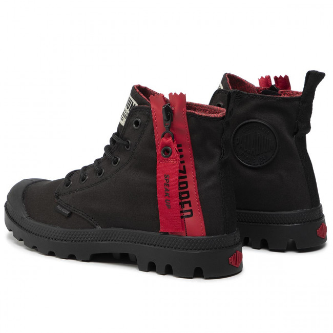 Palladium m Black Stivali 76443 Altri Trekking 008 Scarpe Scarponcini Pampa Da Donna E Unzipped DHe9WYE2I