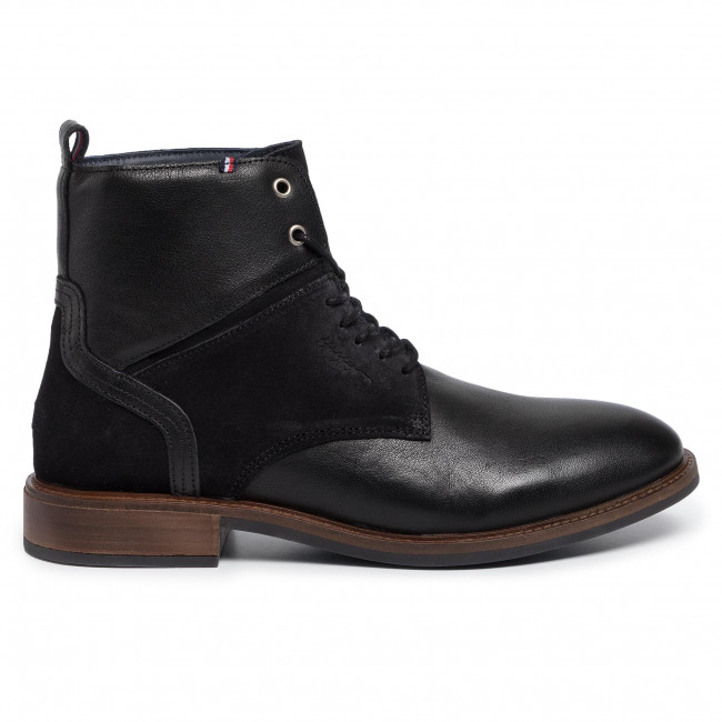 Stivali Classici Uomo Tommy Hilfiger Elevated Leather Mix Chelsea