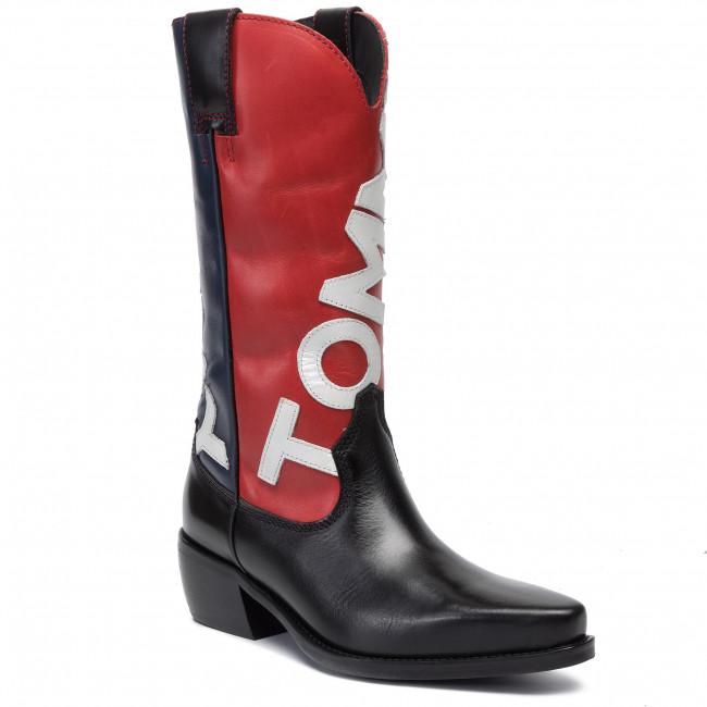 Tronchetti TOMMY JEANS - Heritage Cowboy Boot EN0EN000621 Midnight 403